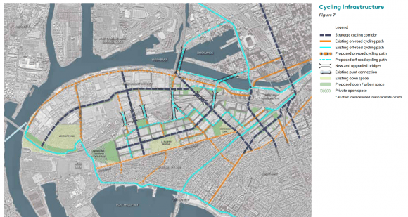 Walking, bikes and public transport the big focus in Fishermans Bend's integrated transport plan