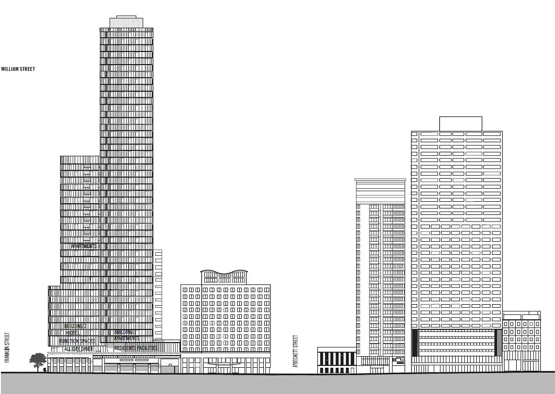 CBD | 386-412 William Street Melbourne | 38L & 18L | 120m & 57m | Residential & Hotel