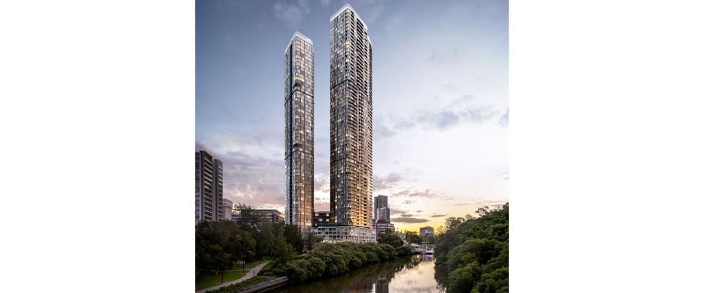 Enjoy the best views of Parramatta from your home at 180 George Street.