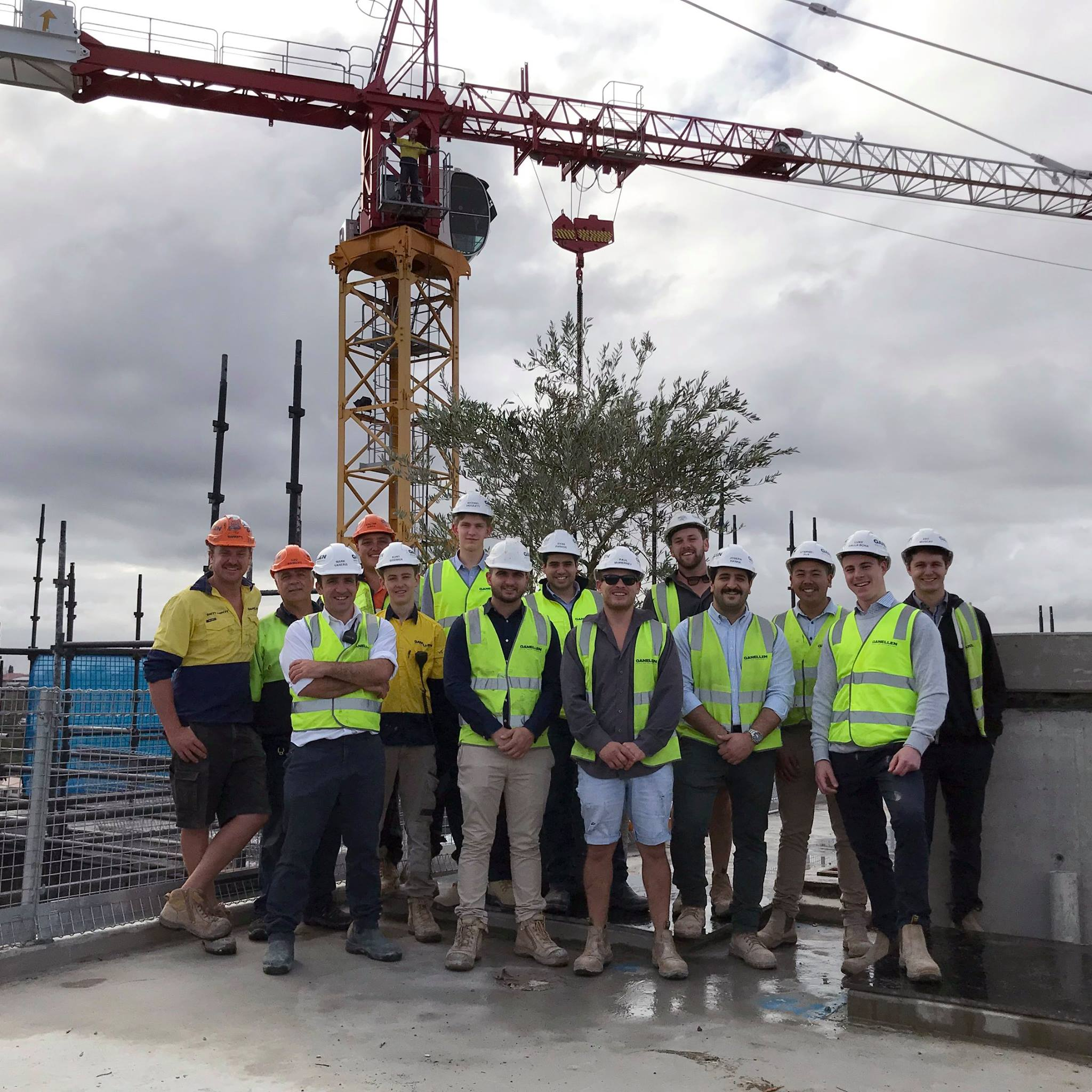 Our 'Highgardens' building in Eastwood has been topped off!