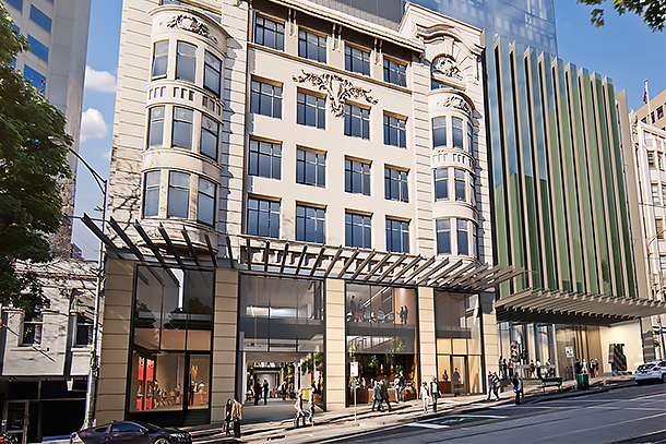 Construction officially commences on 405 Bourke Street