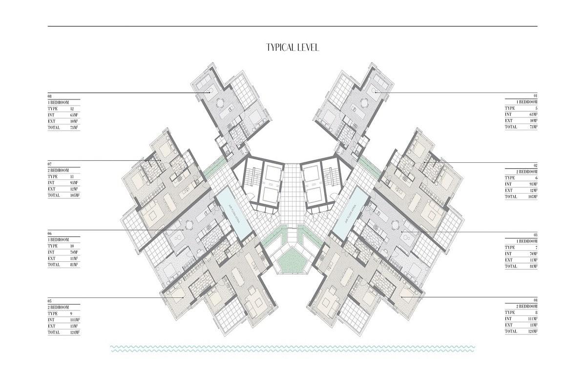443 Queen Street, Brisbane floor plans