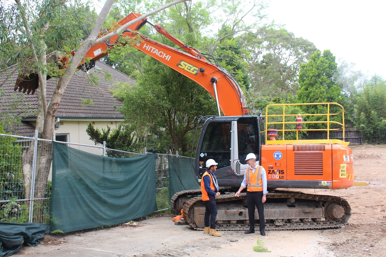 Demolition begins at Tilia by Poly in Lindfield