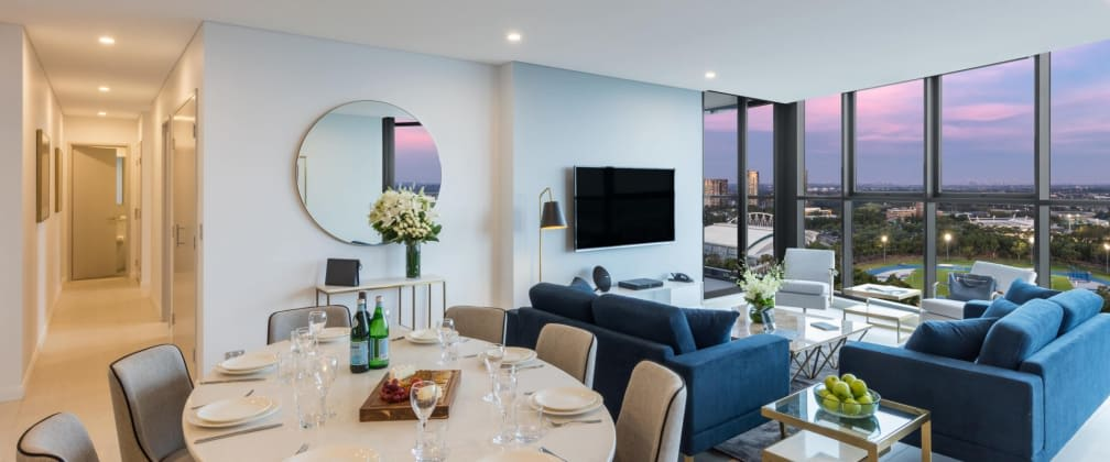 Iconic glass towers light up the skyline in Lidcombe - Aura, the Retreat welcomes you home