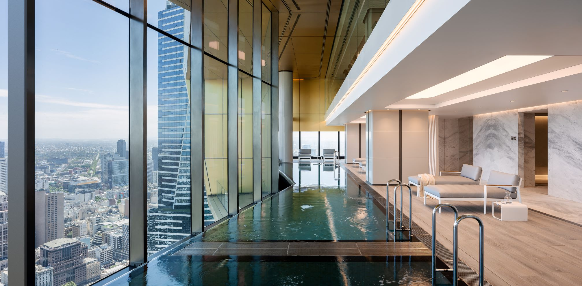 World Class Global unveils the southern hemisphere's highest twin infinity pools at landmark Melbourne development Australia 108