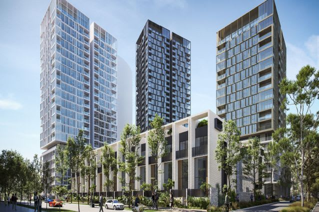 BVN proposes three-tower development in Western Sydney