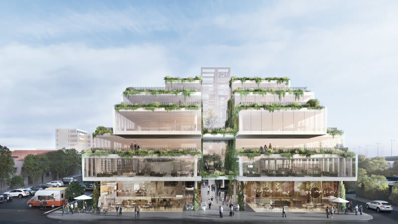 Luxury Escapes signs at Hickory Group's Market Lane in South Melbourne