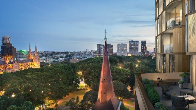 Modern tower surrounded by historic Sydney