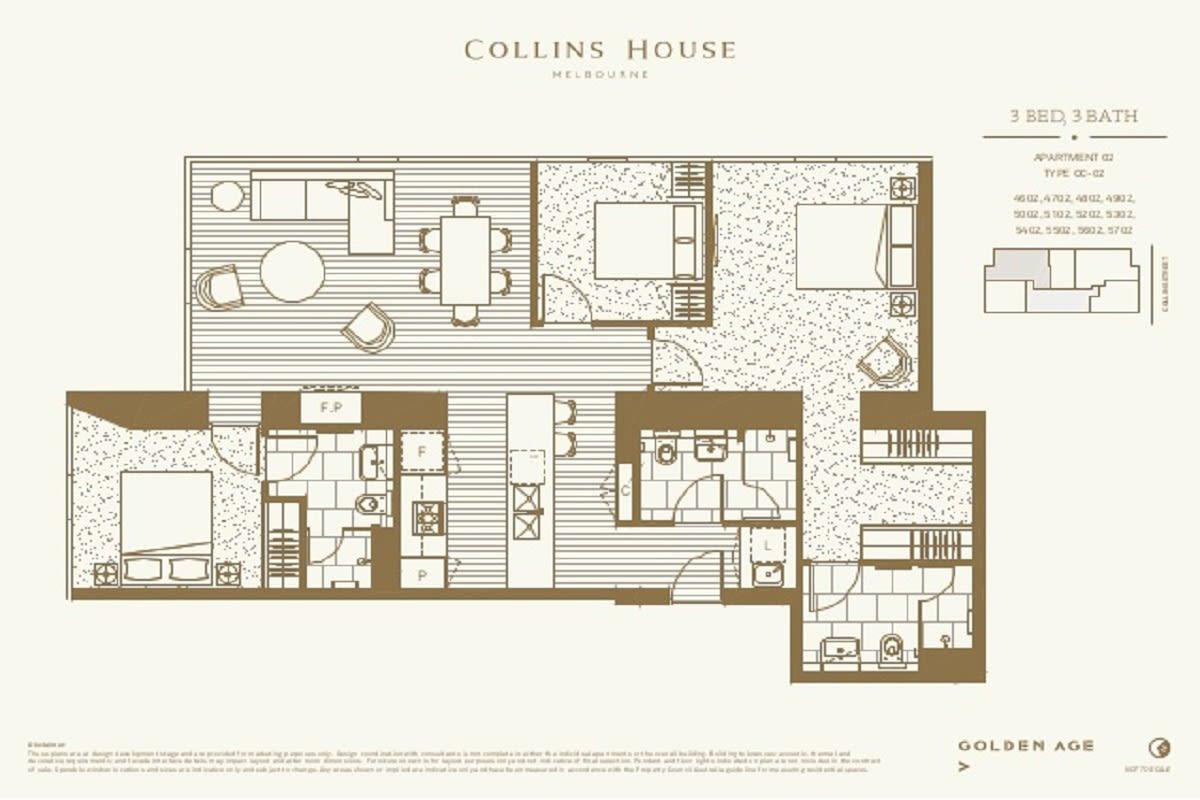 Collins House floor plans