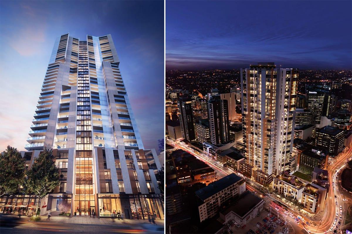 Parramatta's West Village tops out at 40 levels