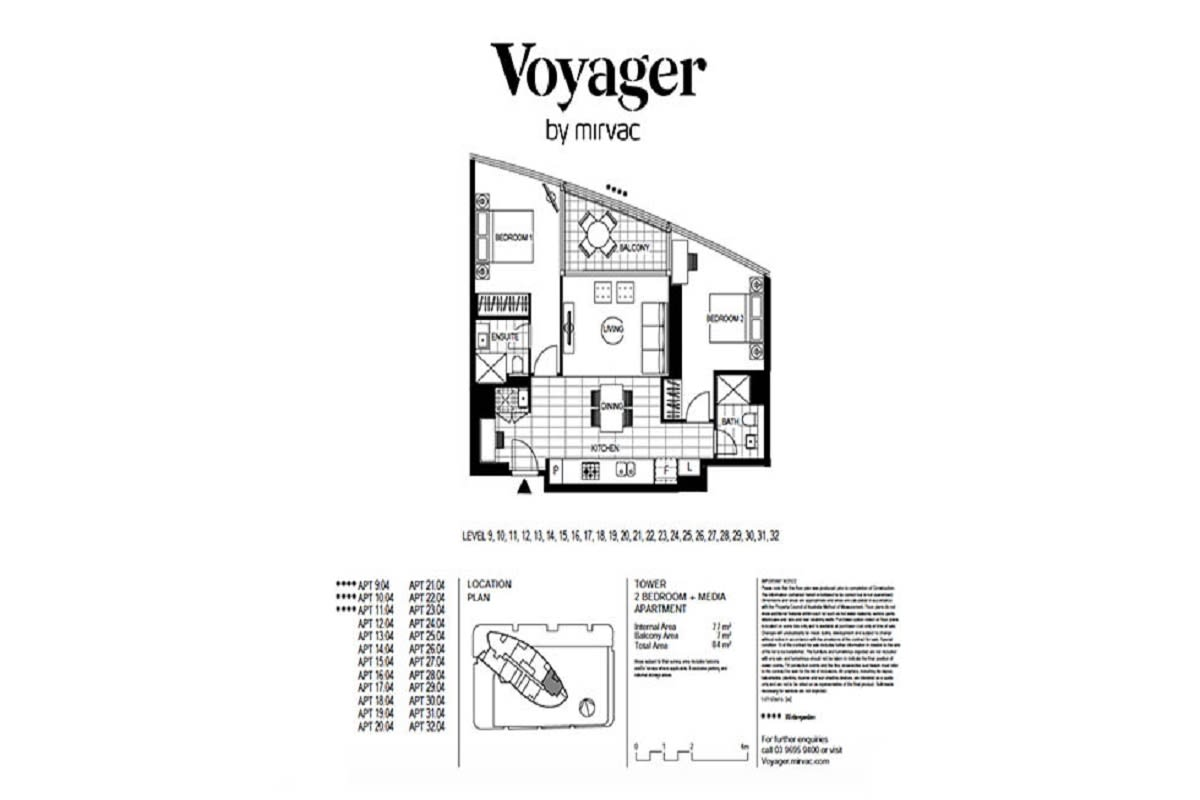 Voyager, Melbourne floor plans