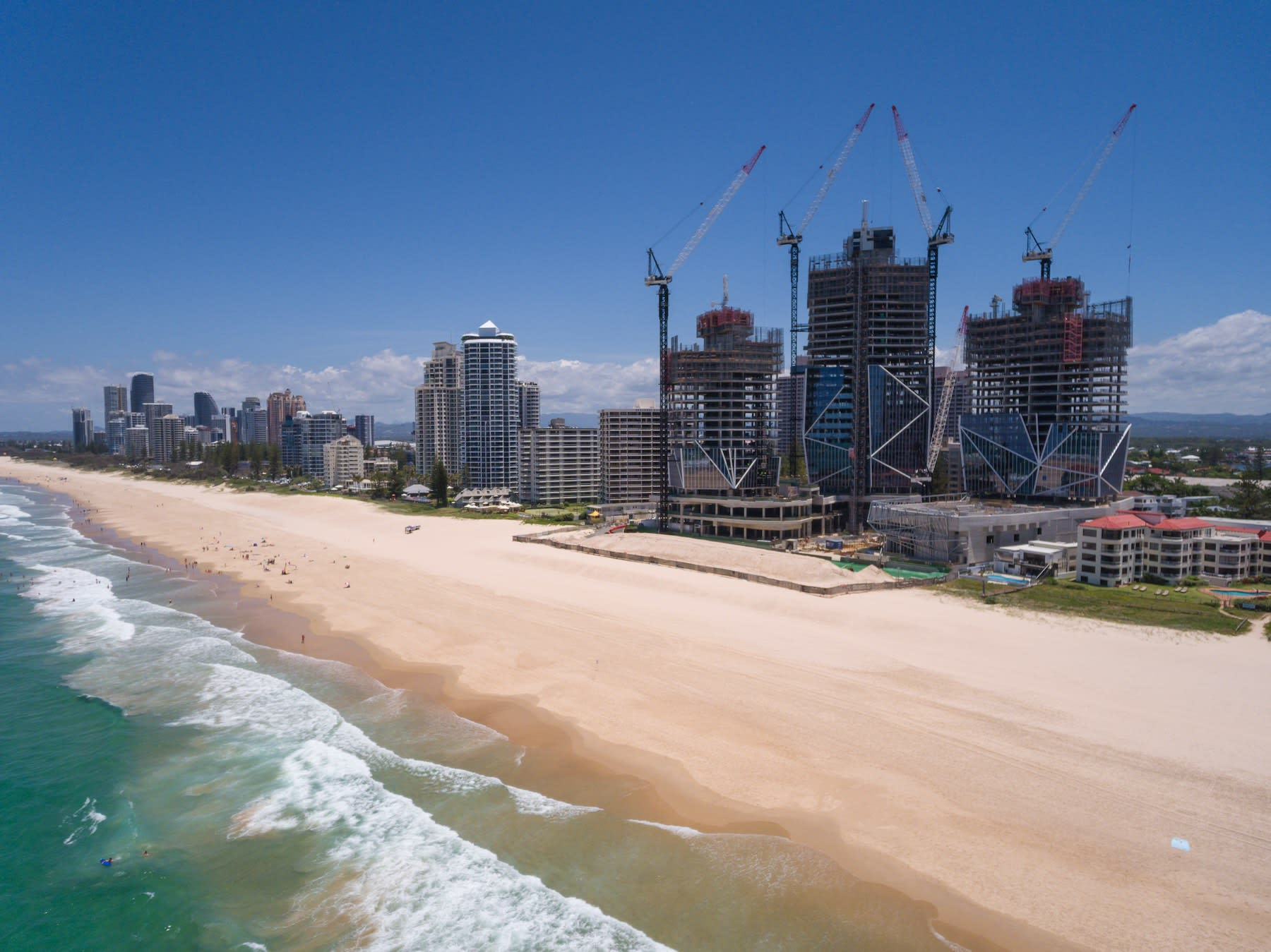 Gold Coast crane watch: Crane numbers decline over the last six months