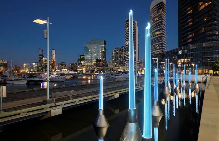 Melbourne's latest public art installation arrives at Docklands