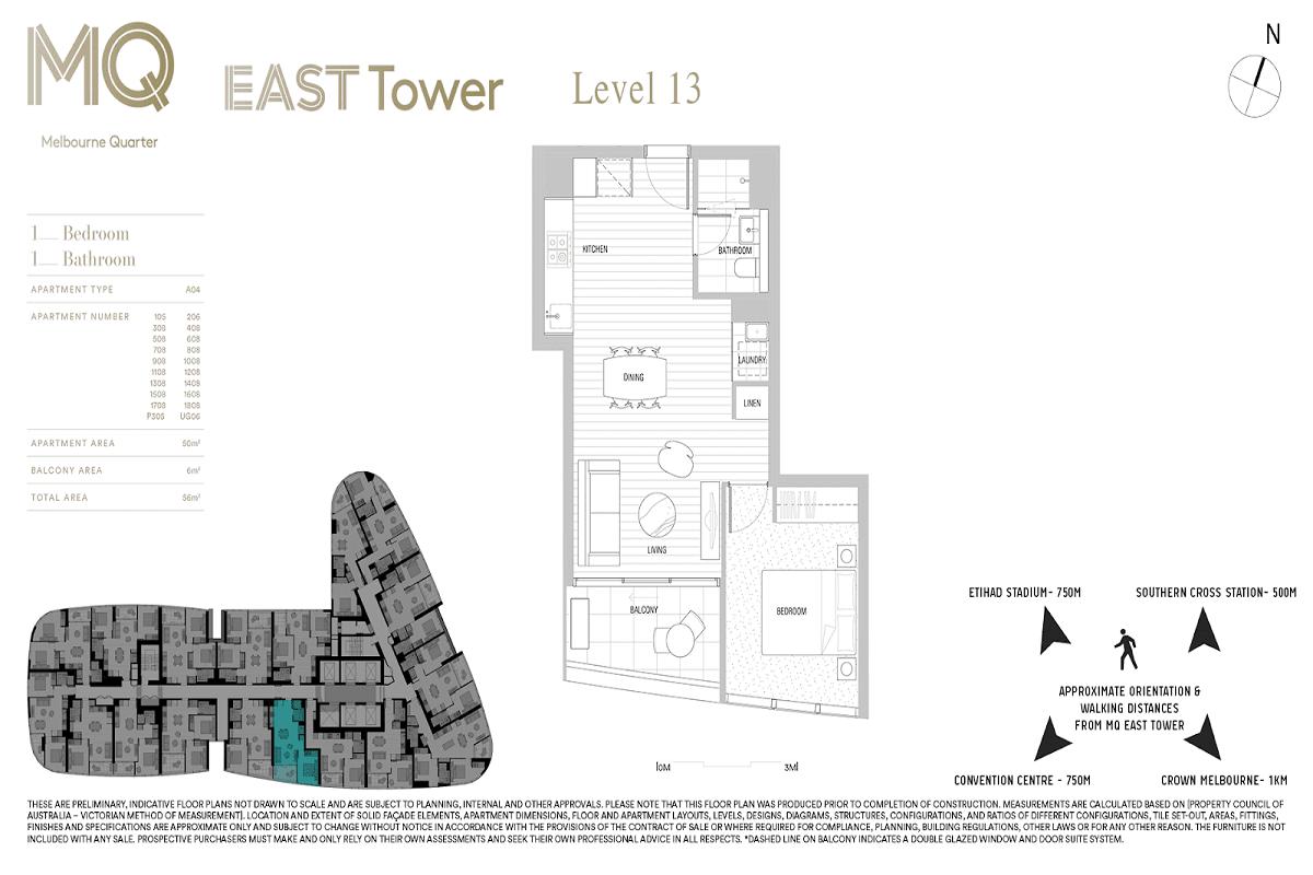 Melbourne Quarter floor plans