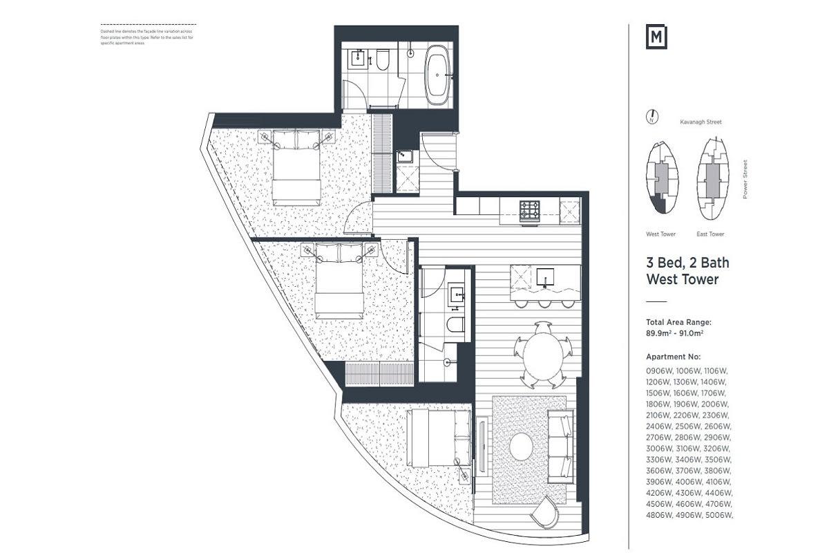 Melbourne Square floor plans