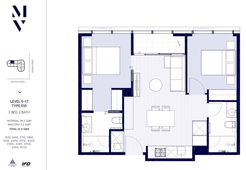Melbourne Village floor plans