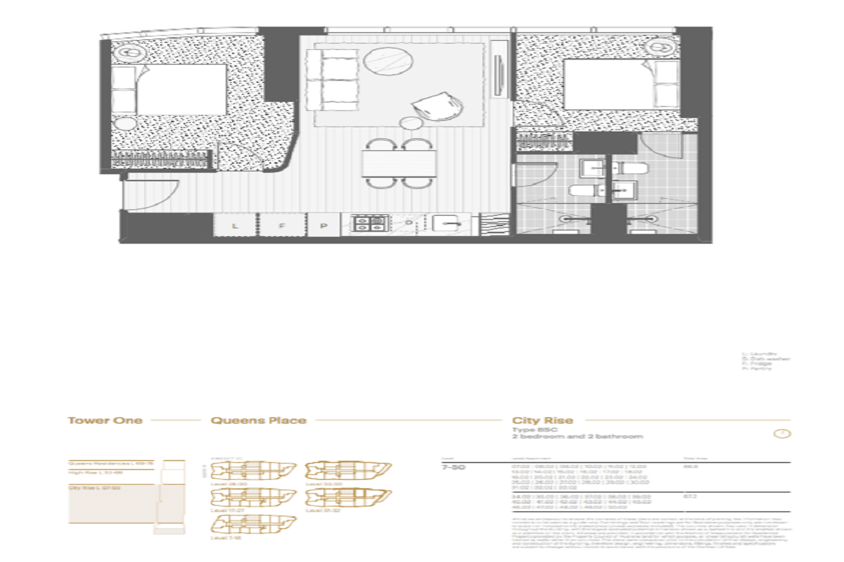 Queens Place floor plans