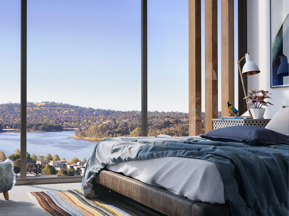 Republic sits in the midst of the thriving Belconnen overlooking Lake Gininderra.