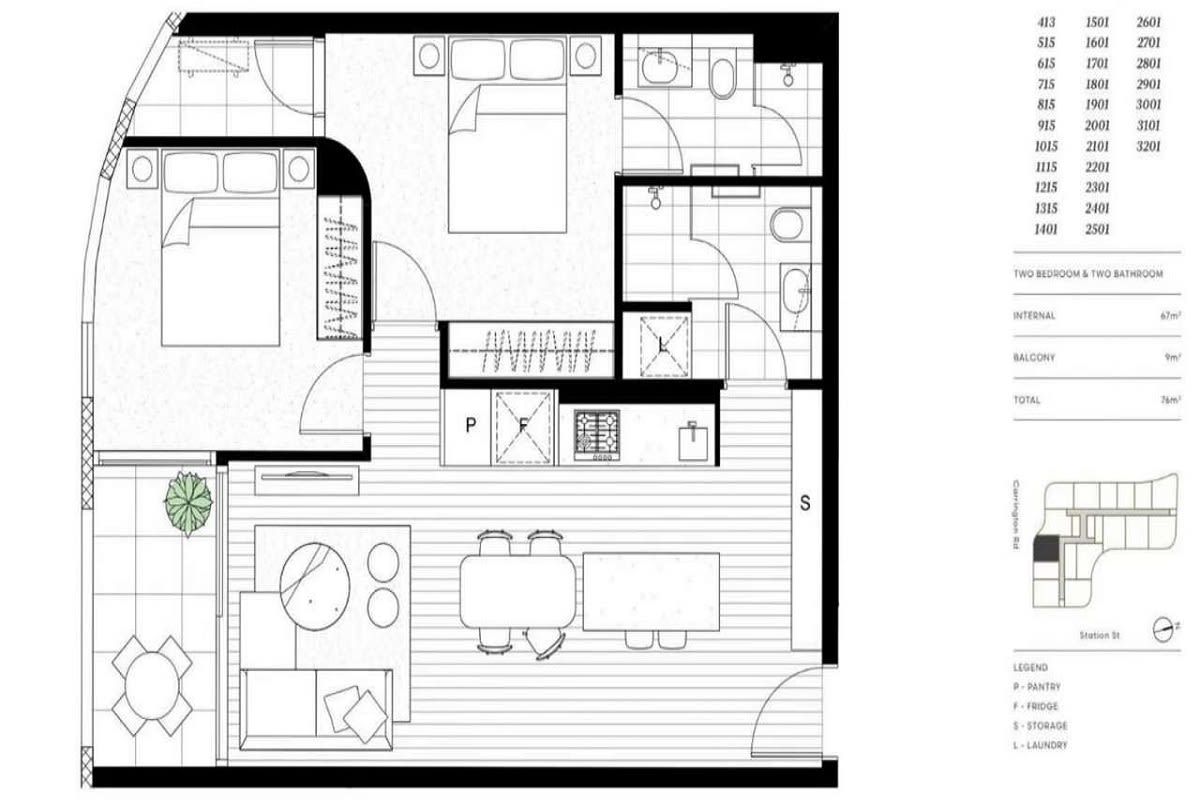 Sky One Box Hill floor plans