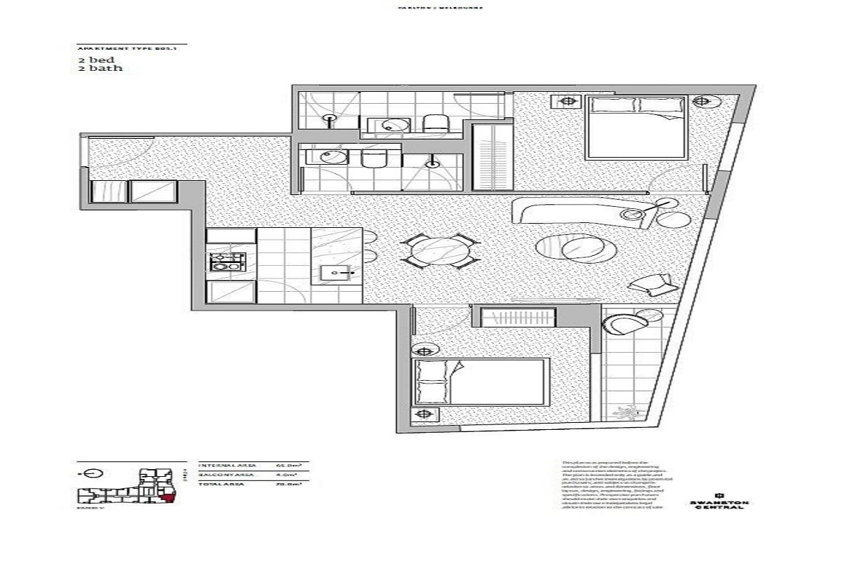 Swanston Central floor plans