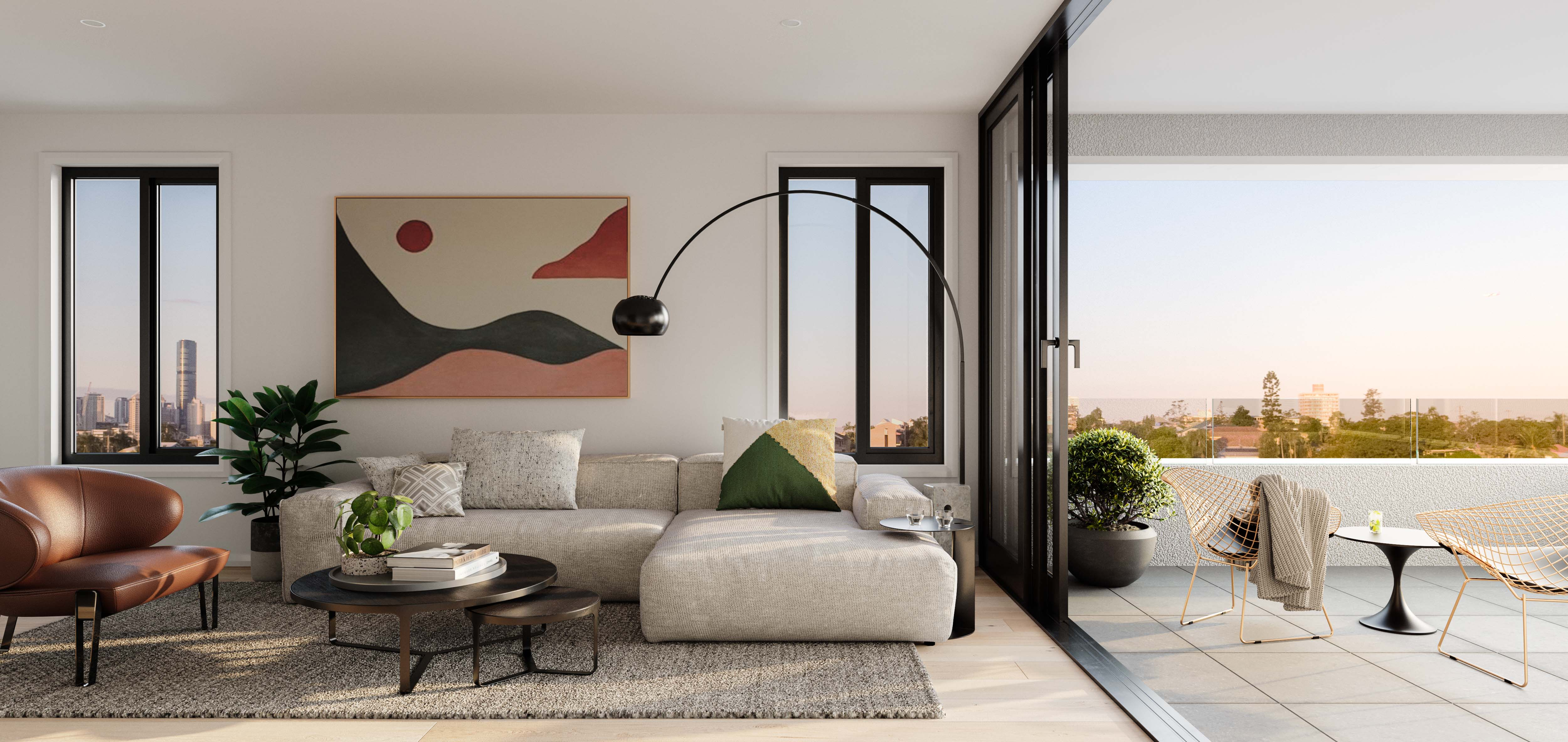 The design finishes at Brisbane's new West End tower, The Bailey