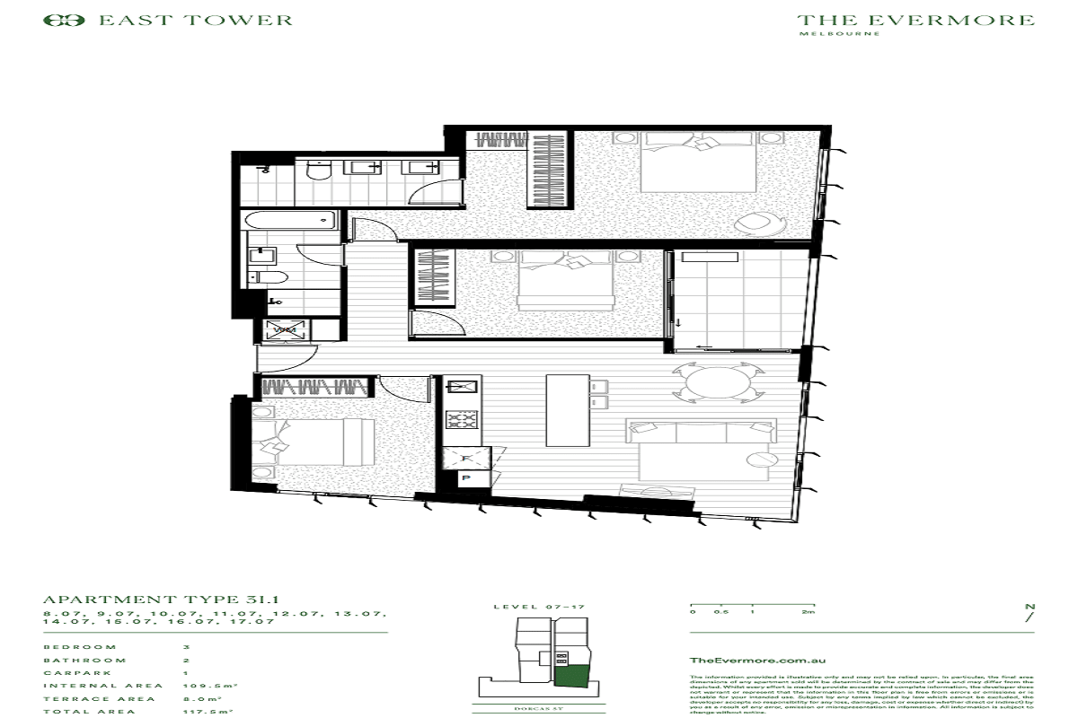 The Evermore floor plans