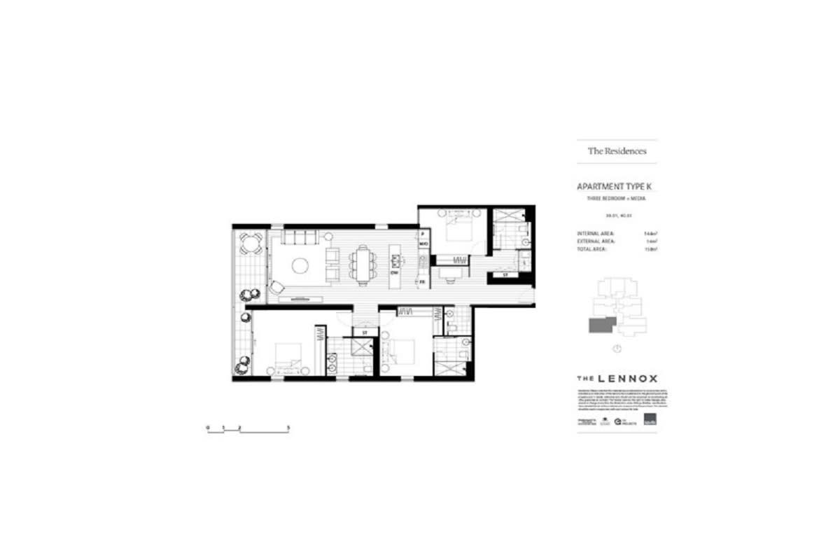 The Lennox, Parramatta floor plans