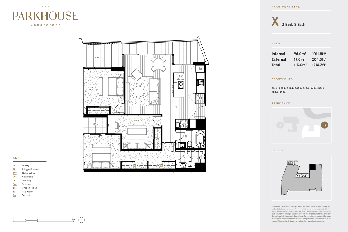 The Parkhouse floor plans