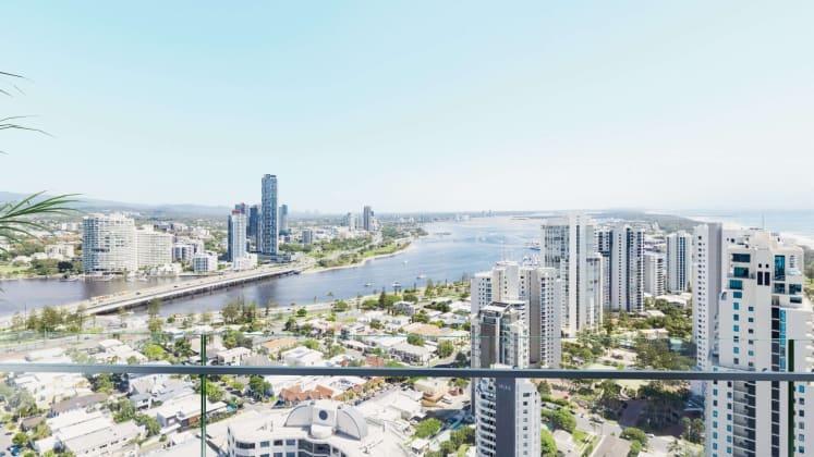 Stunning full-floor apartments overlooking the Gold Coast Hinterlands.