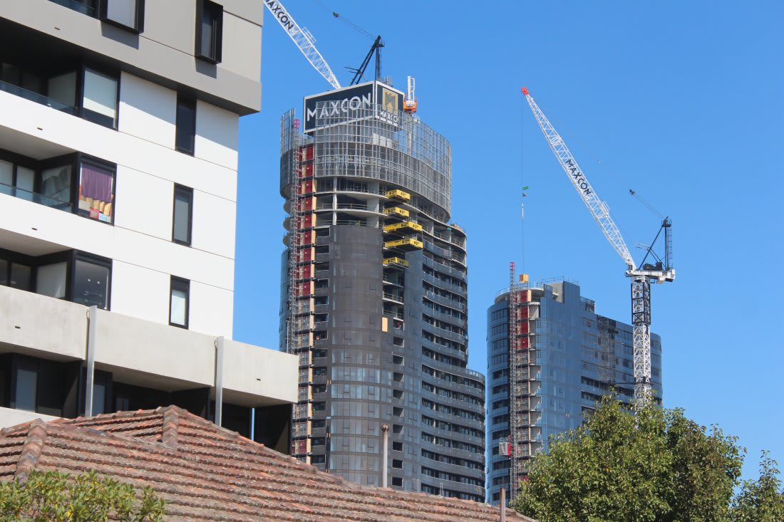 The state of construction in Melbourne - mid April 2017