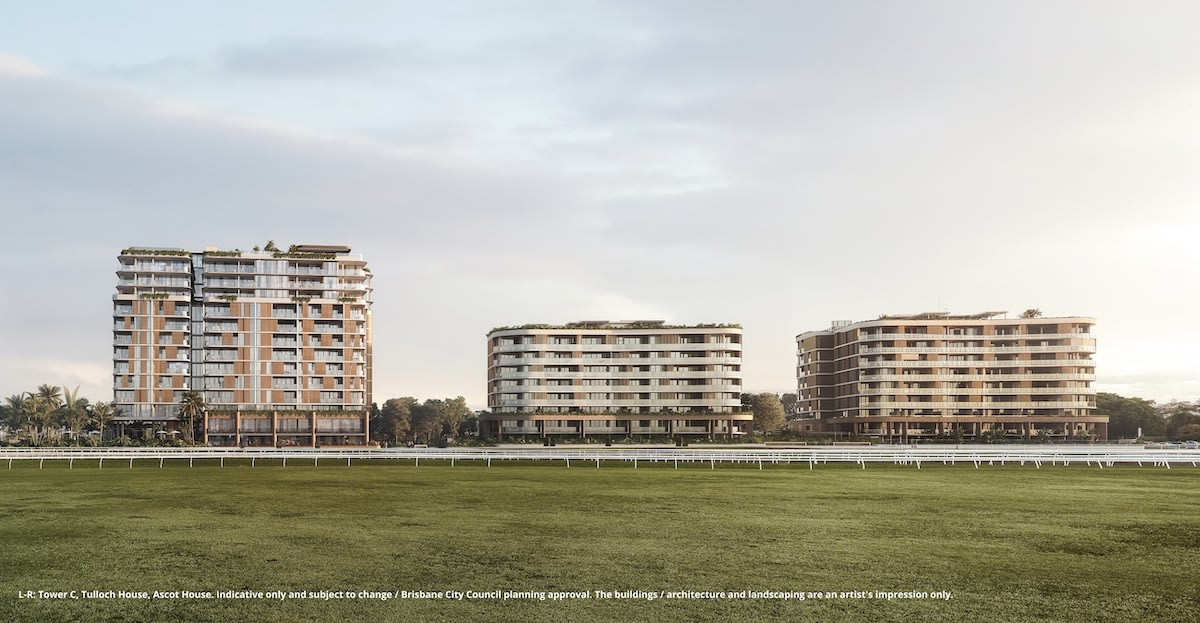 Mirvac fast-track third apartment stage at Eagle Farm Racecourse development, Ascot Green