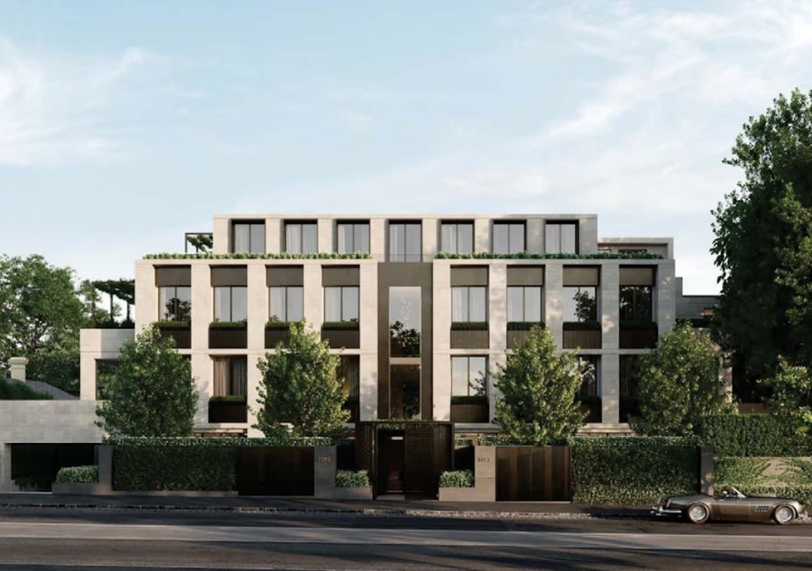 A new $22 million apartment development is coming to Toorak, find out who's behind it