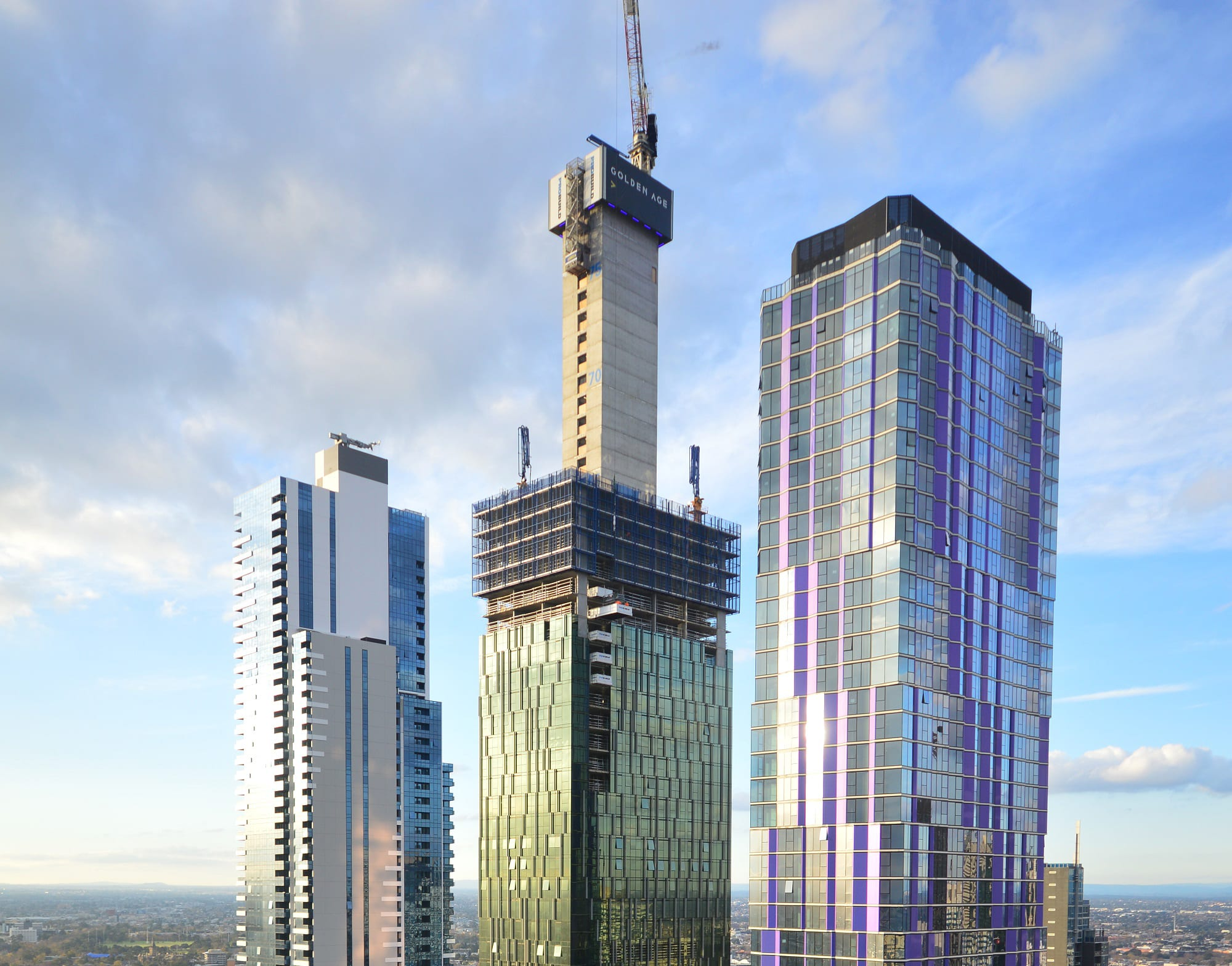 Victoria One's core tops out - becomes CBD's tallest structure