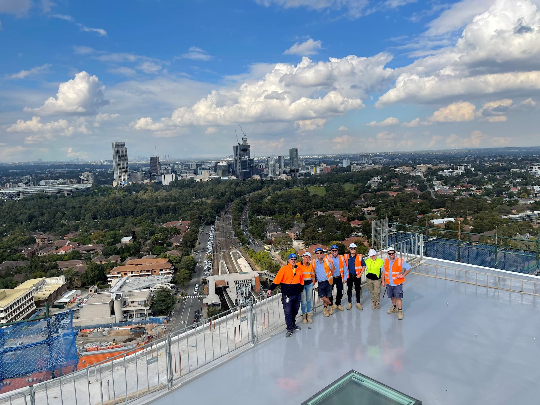 Deicorp top out Westmead project Highline