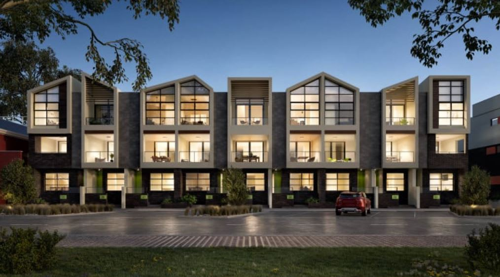 How the luxury Piper Townhomes fit in AVJennings Waterline Place community in Williamstown