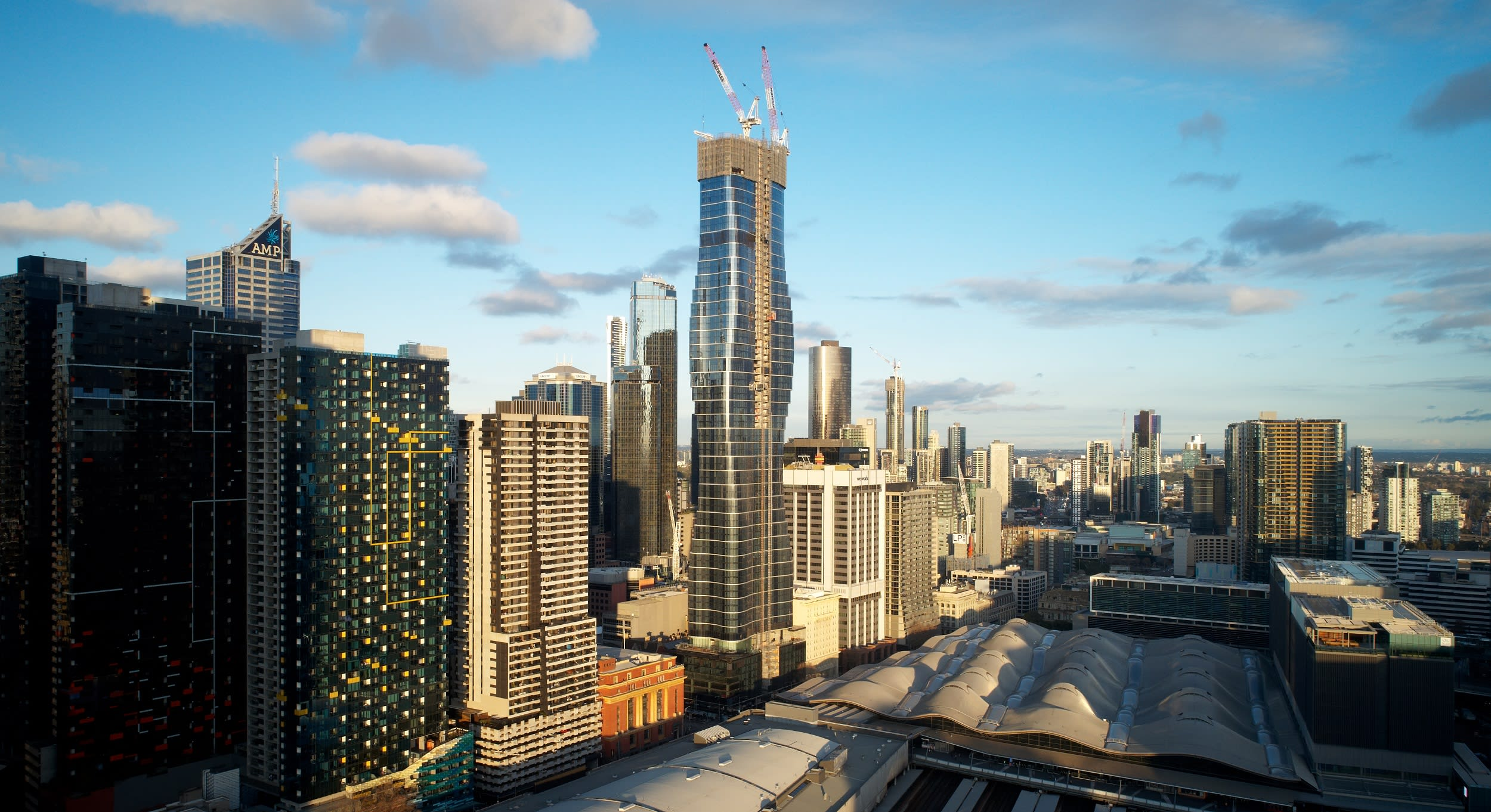 Melbourne skyscraper inspired by a Beyoncé music video tops out at 246 metres