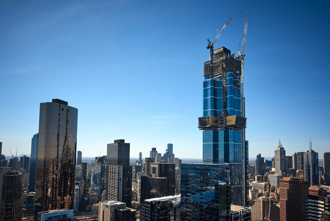 Australia 108 reaches 100th floor and achieves new construction milestone
