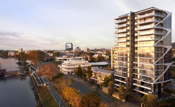 BANC apartments overlooking the river. Credit: WMK Architecture