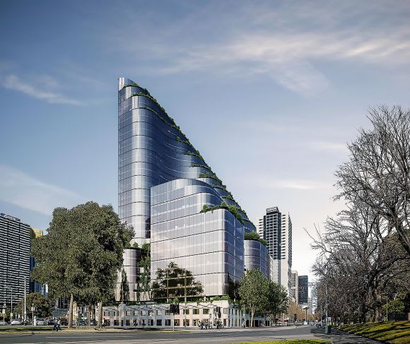 A reimagined 388 William Street. Image: Sinclair Brook