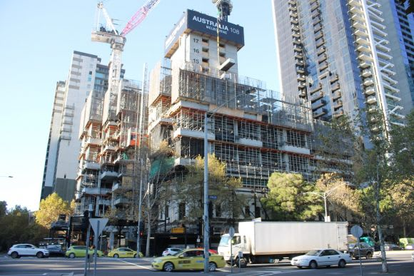 The state of construction in Melbourne - mid May