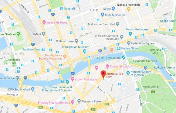 Australia 108 location
