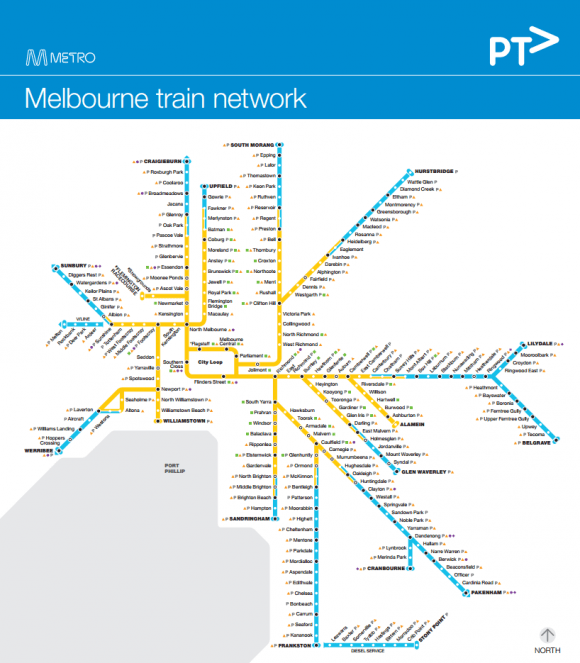 Does Melbourne's rail map depict enough information?