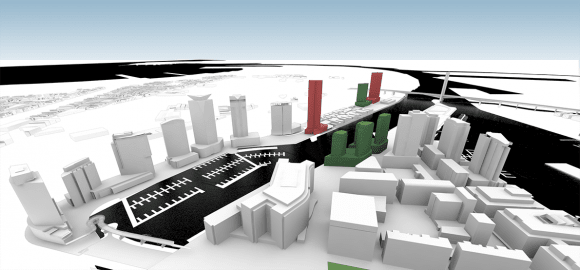 CBD Model update: Docklands to the fore