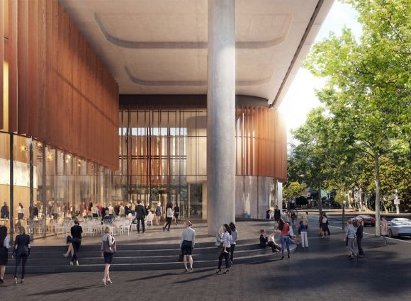 32 Smith Street's forecourt. Image: Supplied