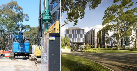 Construction works echo around Botanicca as further office buildings await