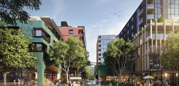 Rendering of West Melbourne's West End by CHT Architects
