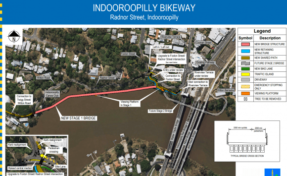 Brisbane City Council unveils Indooroopilly bikeway project
