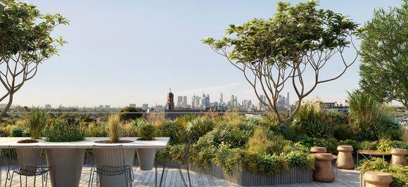 Lt. Miller's rooftop garden, rendering by Breathe Architecture