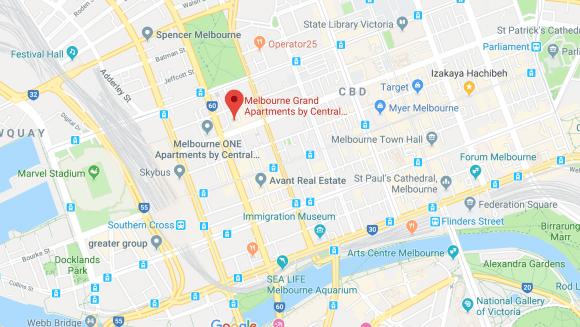 Melbourne Grand location