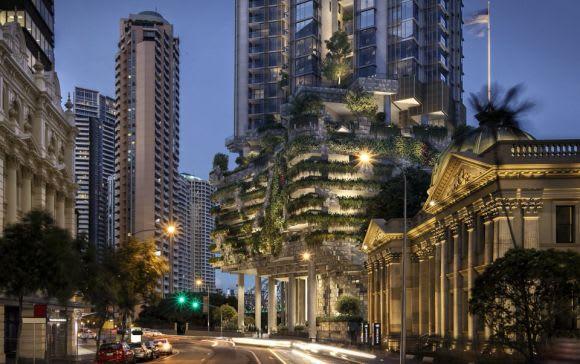 Rendering of 443 Queen Street by Architectus